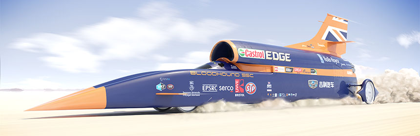 bloodhound ssc the supersonic car expected to smash the land speed
