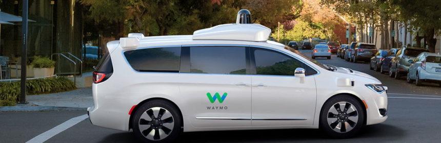 chrysler pacifica hybrid minivan waymo